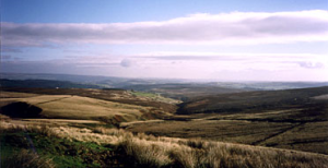 The view from Top Withins, across the Yorkshire Moors