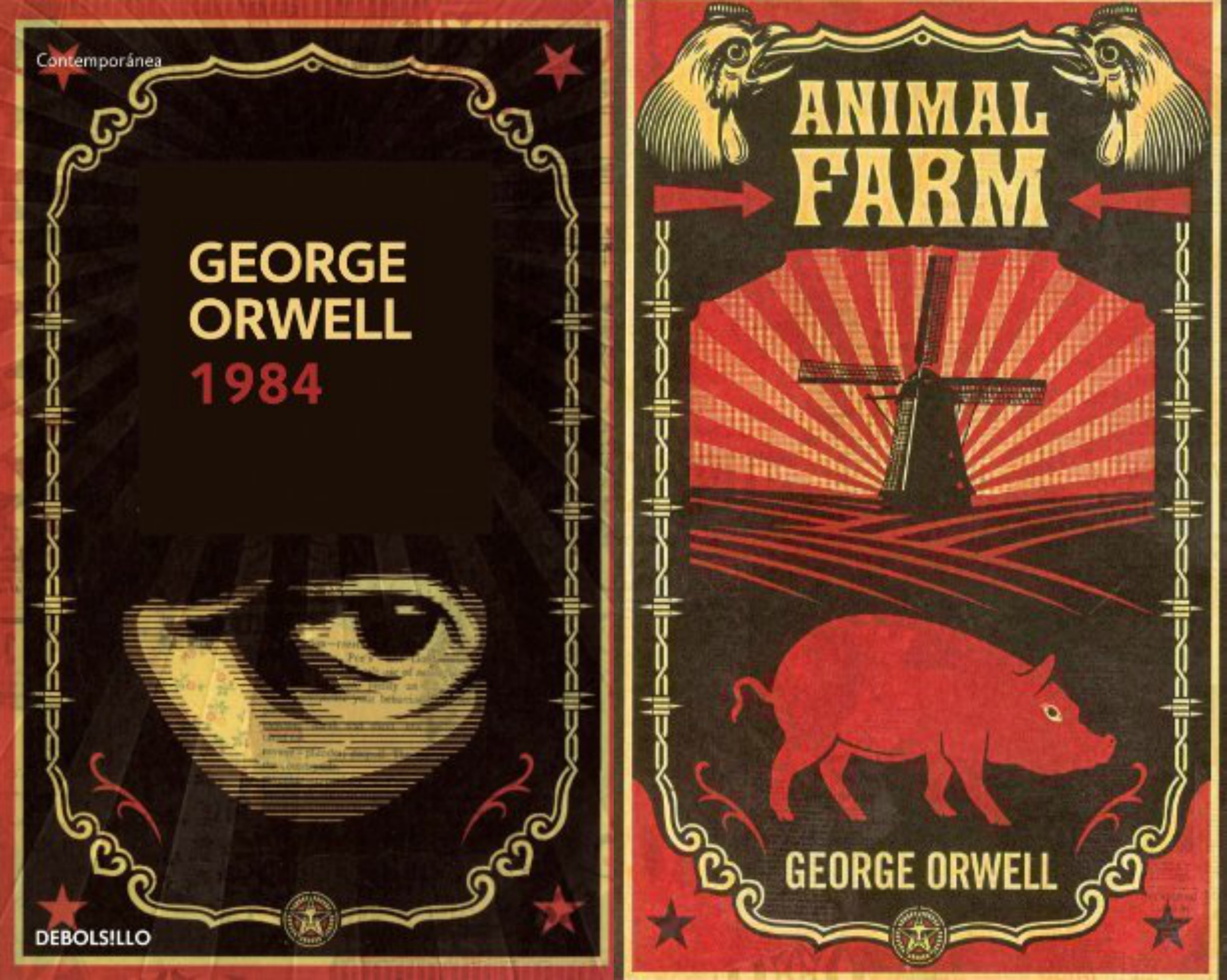 1984 vs animal farm One of orwell's central concerns, both in animal farm and in 1984, is the way in which language can be manipulated as an instrument of control in animal farm, the pigs gradually twist and distort a rhetoric of socialist revolution to justify their behavior and to keep the other animals in the dark.