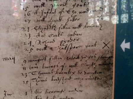 William Shakespeare's death records