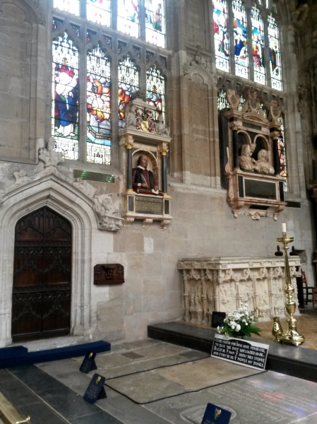 Shakespeare's Grave and his bust