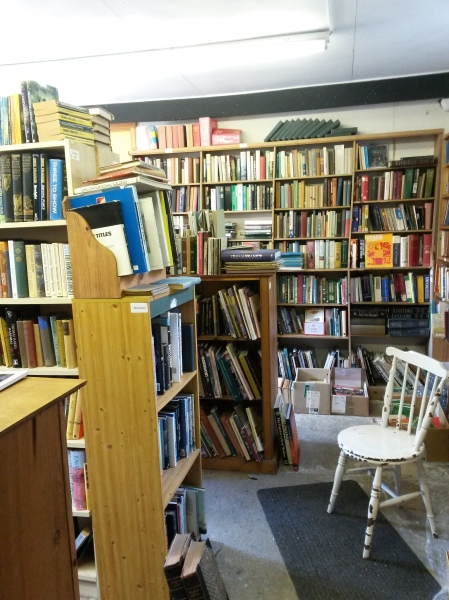 Shed of second hand books