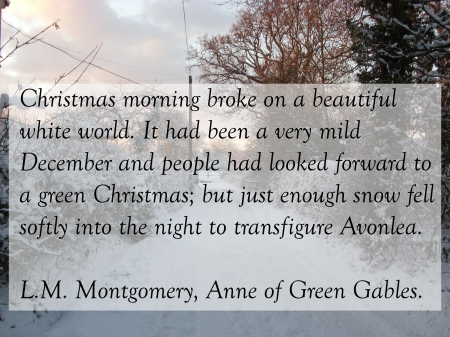 Advent 19 Anne of Green Gables