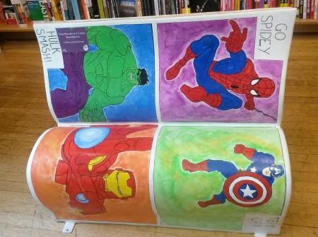 The Marvel-ous Comic BookBench - Cherry Oak School