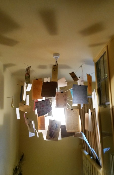Bookshop Lampshade made of old book pages
